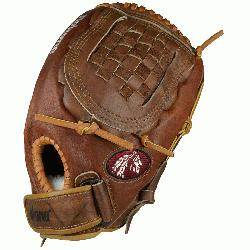 glove for female fastpitch softball players. Buckaroo leather for game ready