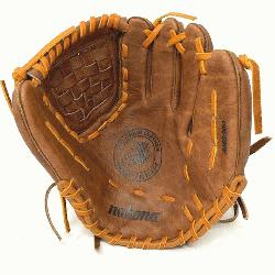 n Made Baseball Glove with Classic Walnut Steer