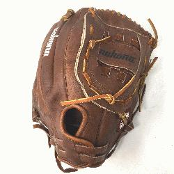 nut 13 Softball Glove (Right Handed Throw) Size 13 : Nokonas signature leather, Walnut