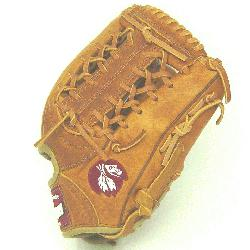 11.5 inch baseball glove with modified trap web. Inspired by Nokonas heritage of handcraftin
