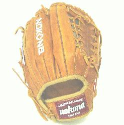 ona Generation 11.5 inch baseball glove with modified trap web. Inspired by Nokonas