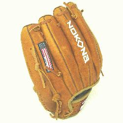 11.5 inch baseball glove with modified trap web. Inspired by Nokonas heritage of handcrafting