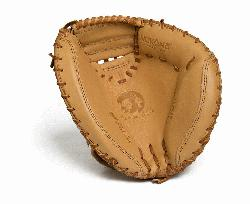 made Nokona catchers mitt made of top grain leather and closed web. Made with full Sandstone l
