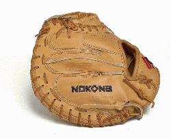 American made Nokona catchers mitt made of top grain leather and closed web. Made with