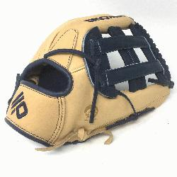2.75 Outfield Pattern H-Web Palm Leather American Bison, Back