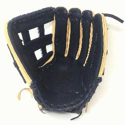 5 Outfield Pattern H-Web Palm Leather American Bison, Back L