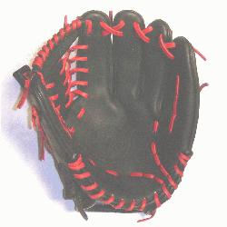 na professional steerhide baseball glove with red laces, modified trap web, and open
