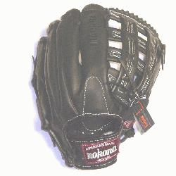 ofessional steerhide Baseball Glove with H web an