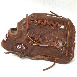 classic walnut leather baseball glove with modified trap web and open back. The Nokona WB-1275M