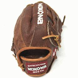 red by Nokona's history of handcrafting ball gloves in America for over 80 years, the