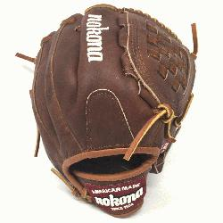 assic Walnut Youth Baseball Glove. 10.5 inch with closed basket web. Open Back. Red old sch