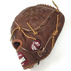 Walnut Youth Baseball Glove. 10.5 inch with closed basket web. Open Back. Red old school wrist
