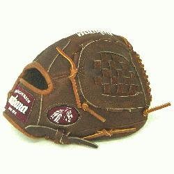 ssic Walnut Youth Baseball Glove. 10.5 inch with closed basket web. Open Back. Red old school wr