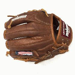 ona Walnut WB-1150M Baseball Glove 11.5 Modified Trap Right Handed Throw Walnut HHH Leather which
