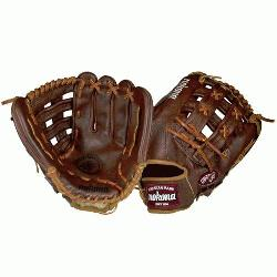 75H Outfield Baseball Glove 12.75 (Right Handed Throw) : Nokona Walnu