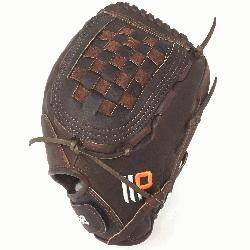 Fast Pitch Softball Glove 12.5 inches Chocolate lace. Nokona Elite performa