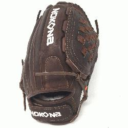 lite Fast Pitch Softball Glove 12.5 inches Chocolate lace. Nokona Elite performanc