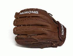 t Pitch Softball Glove. Stampeade leather close web and velcro closure back. Nokona Elite