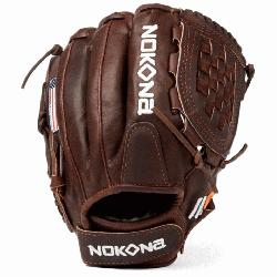 kona X2 Elite Fast Pitch Softball Glove Chocolat