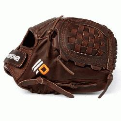 Fast Pitch Softball Glove Chocolate Lace. Nokona Elite performance ready for play posit