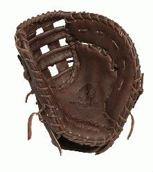 First Base Pattern H Web Open Back Leather: Stamped