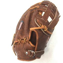 13 First Base Pattern H Web Open Back Leather: Stampede&tr
