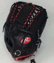 erred Gameday Pattern. 12.75 inch outfield glove. Trap-eze web and conventiona