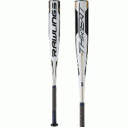 FOR HITTERS AGES 8 TO 12, this 1-piece composite bat is crafted of ultra light carbon fiber maki