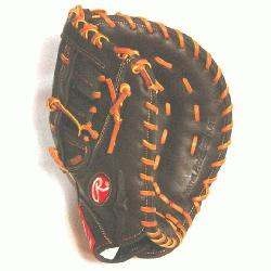 O First Base Mitt 12.5 Inch Mocha (Right Handed Throw) : The Gamer XLE series features PORON