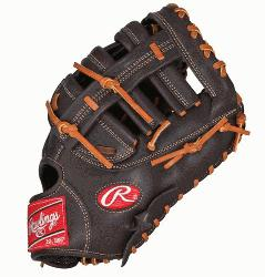 First Base Mitt 12.5 Inch Mocha (Right Handed Throw) : The Gamer XLE series features PORON