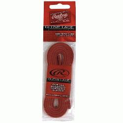 e (Red) : Genuine American rawhide baseball glove replacement lace. Sized a