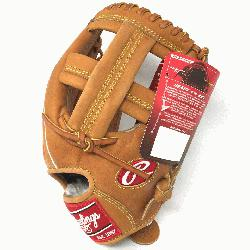 The Rawlings PROSPT Heart of the Hide Baseball Glove is 11.75 inc