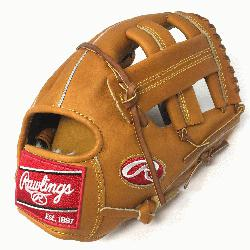 Hide baseball glove from Rawlings features a conventional back and a single post web