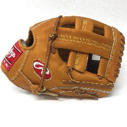Hide baseball glove from Rawlings features a conventional back