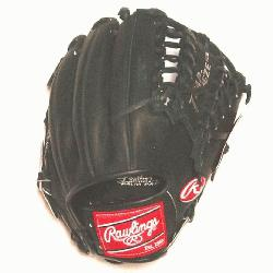 Rawlings Exclusive Heart of the Hide Baseball Glove. 12 inch with Trapeze Web. Black Dry