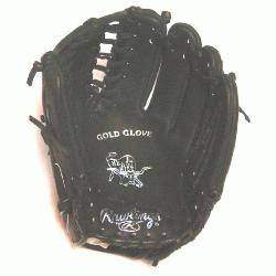 Heart of the Hide Baseball Glove. 12 inch with Trapeze Web. Black Dry H