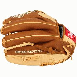 rt of the Hide baseball glove features a conventiona