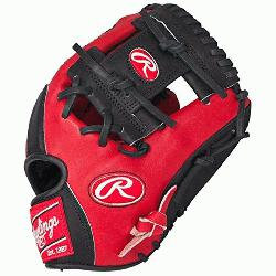s Heart of the Hide Red Black Baseball Glove 11.5 inch PRO202