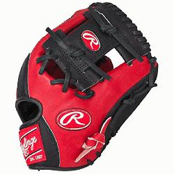 t of the Hide Red Black Baseball Glove 11.5 inch PR
