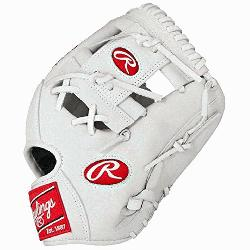 Rawlings Heart of the Hide White Baseball Glove 11.5 inch PRO202WW (Right-Handed-Throw) :