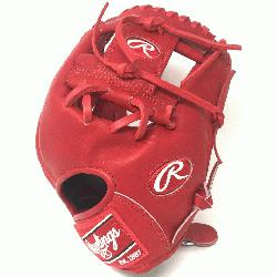 pRawlings Heart of the Hide. Pro I Web. Indent Red Heart of Hide Leather. Sta