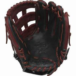 on Color Sync Heart of the Hide baseball glove features a PRO H W