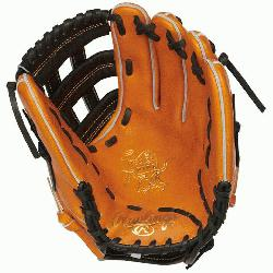 Hide baseball glove from Rawlings features a PR