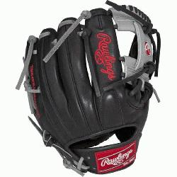 his Heart of the Hide baseball glove from Rawlings features a conventional back and the
