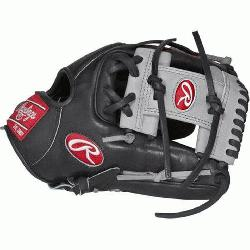Hide baseball glove from Rawlings features a conventional back and the Modified T