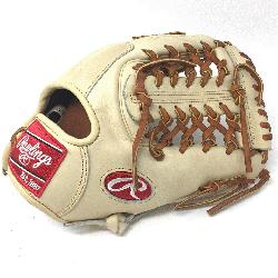 Heart of the Hide Camel leather and brown laced. 11.5 inch Modified Trap Web and