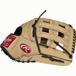 "he Hide 12.75"" baseball glove features a the PRO H Web p"