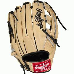 "of the Hide 12.75"" baseball glove features a the PRO H Web pattern, which"
