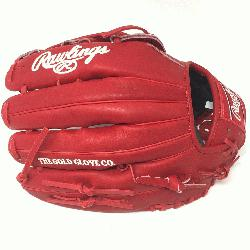 lings Heart of the Hide PRO303 Baseball Glove. 12.75 Inches, H Web, and open back. Red He