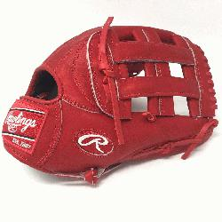 wlings Heart of the Hide PRO303 Baseball Glove. 12.75 Inches, H Web, and open back. Red Hear